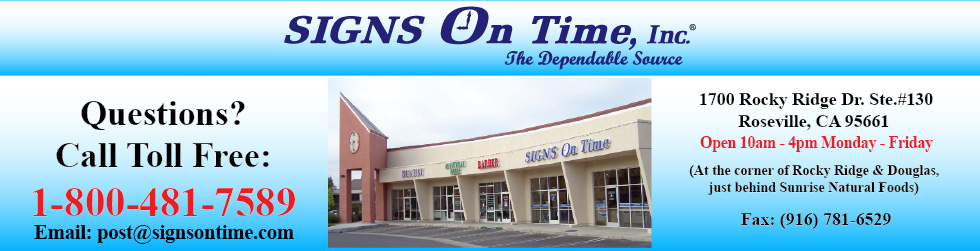 Signs On Time - Signs, Posters, Decals, and banners in Roseville, CA